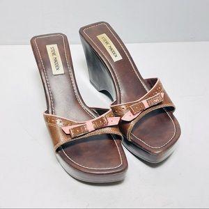 Steve Madden Bianka Leather platform Sandals 10B